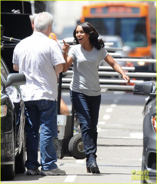 """Kerry Washington filming """"Scandal"""""""