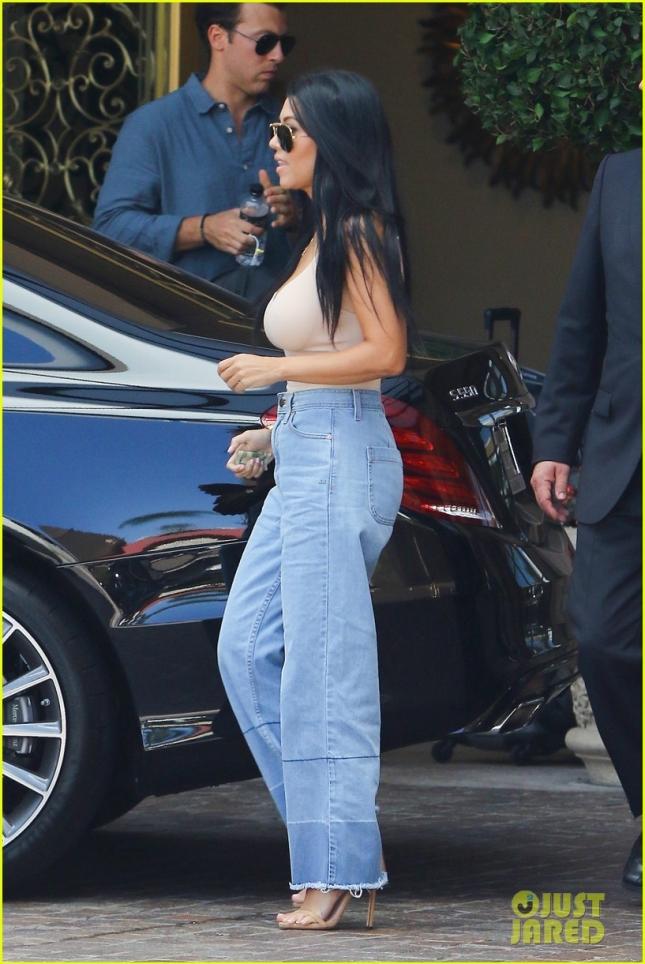 Kourtney Kardashian is all smiles outside Montage Beverly Hills