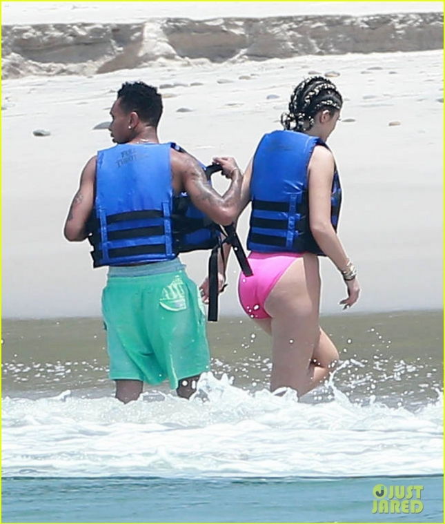 Exclusive... Kylie Jenner & Tyga Jet Ski In Mexico