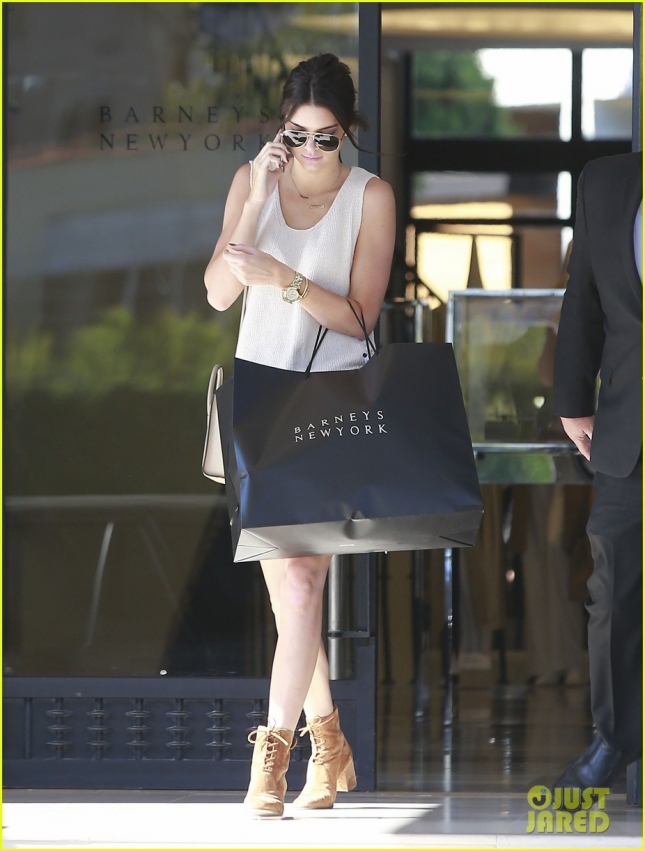 Kendall Jenner Shops At Barneys New York