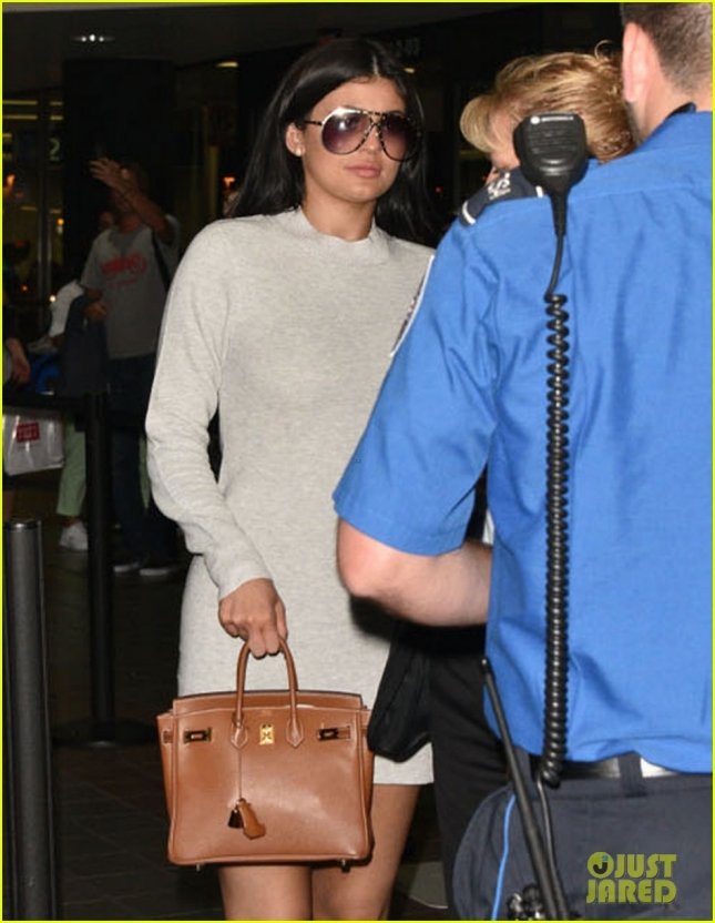 Kylie Jenner Departing On A Flight At LAX
