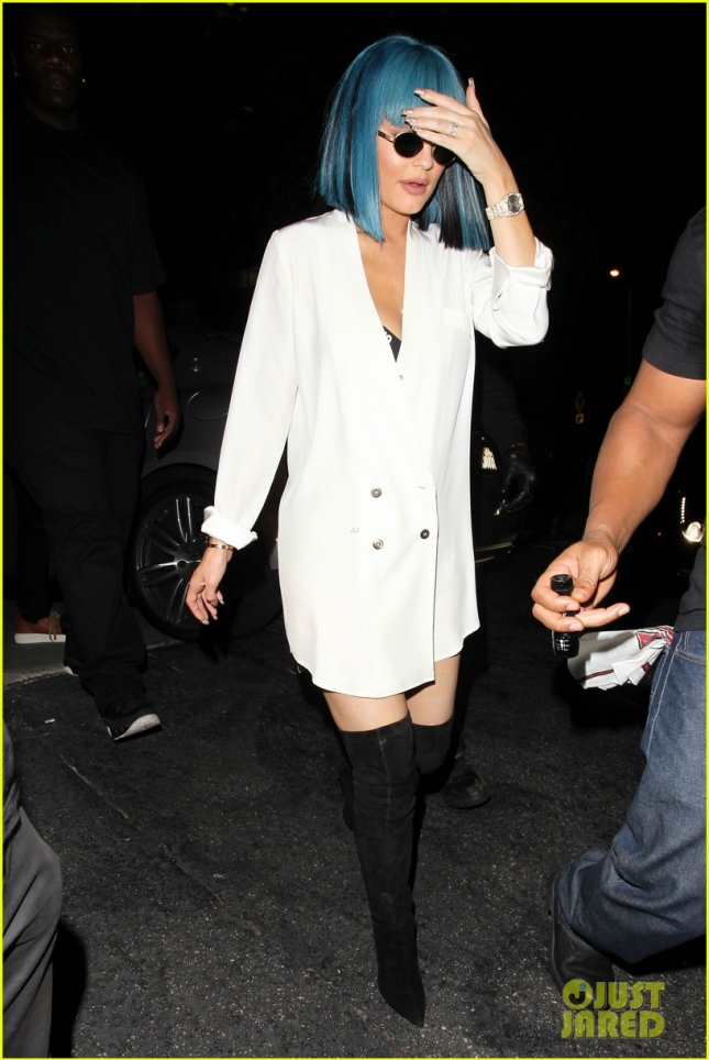 Kylie Jenner and Tyga arriving at 1OAK night club in West Hollywood