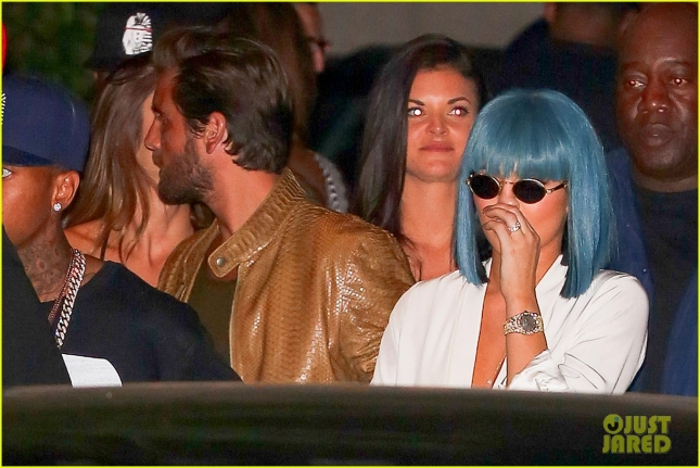 Kylie Jenner, Scott Disick and Tyga mak it a late night leaving the club at 2AM
