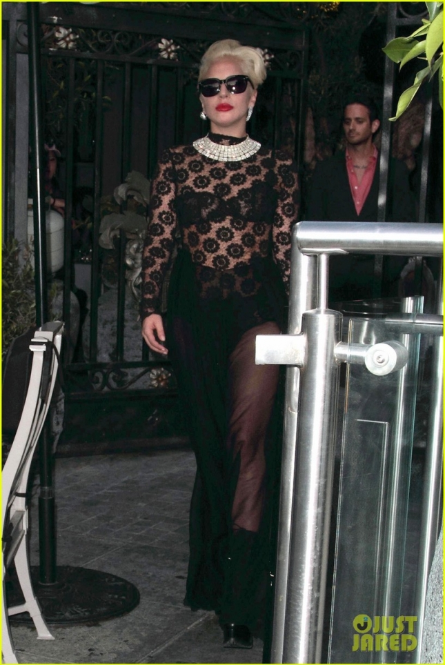 Lady Gaga is a sheer knock-out at Pump Lounge **USA ONLY**