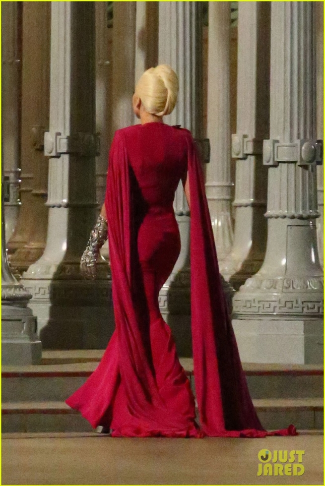 Lady Gaga films 'American Horror Story' at LACMA