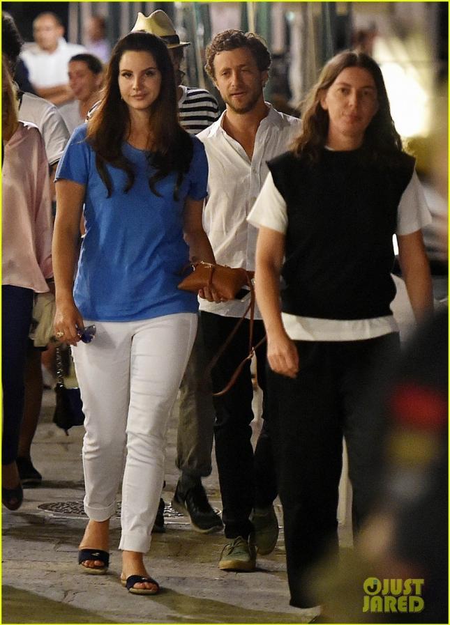 Lana Del Rey & Francesco Carrozzini Enjoy A Night Out In Portofino