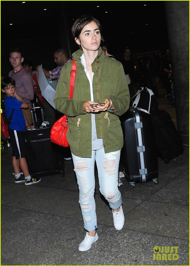 Lovely Lily Collins is under the spotlight at LAX