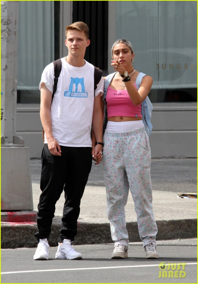 Madonna's daughter Lourdes Leon takes a romantic stroll with her boyfriend **USA ONLY**