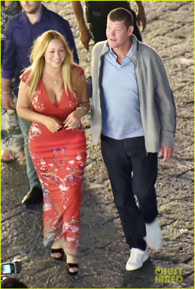 *EXCLUSIVE* Mariah Carey and James Packer snuggle up on another romantic vacation in Italy **USA ONLY**