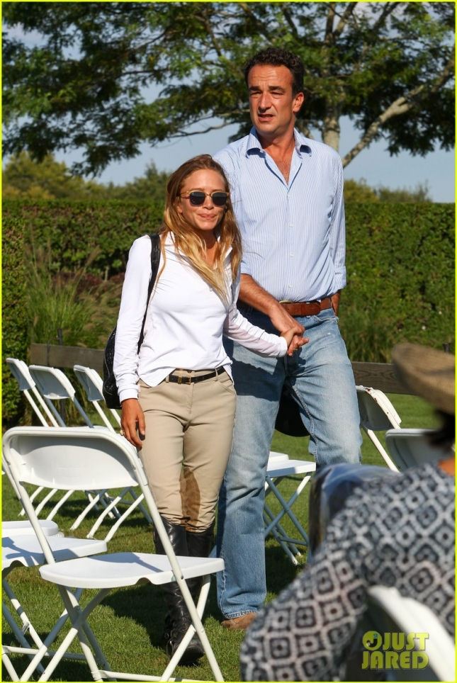 Mary-Kate Olsen & Olivier Sarkozy Hold Hands At The 2015 Hampton Classic