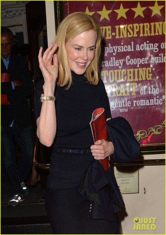 Nicole Kidman leaving the Theatre Royal Haymarket.