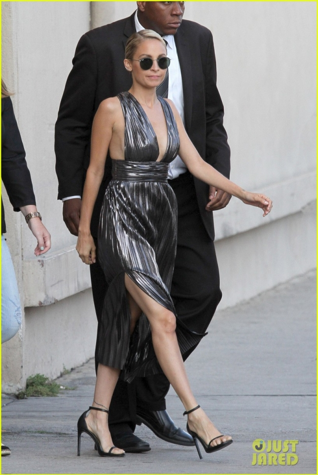 Nicole Richie heads out after an appearance on 'Jimmy Kimmel Live'