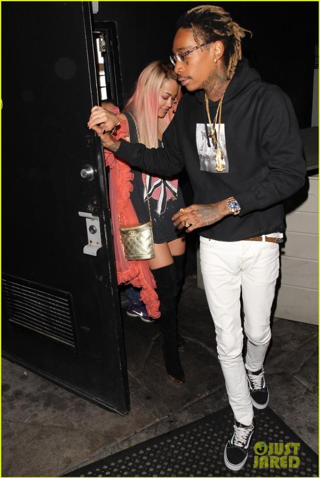 Rita Ora and Wiz Khalifa enjoy a night out at The Nice Guy