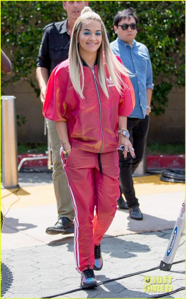 Rita Ora seen at 'Extra Tv' at Universal City, CA
