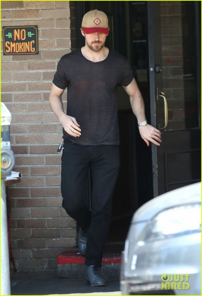 Exclusive... Ryan Gosling Spotted Out For Lunch At Little Dom's