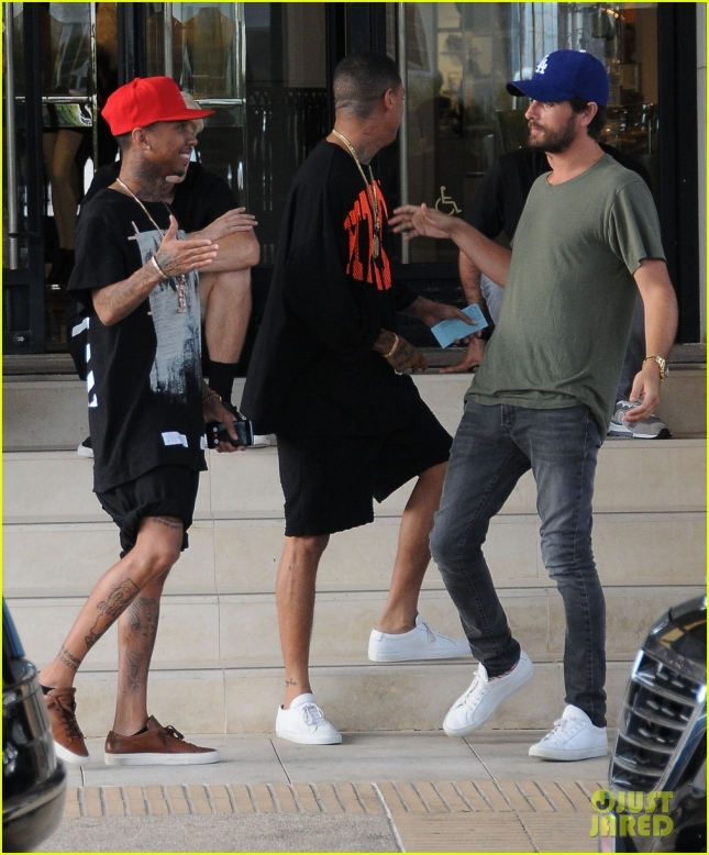 Scott Disick & Tyga Shop At Barneys New York