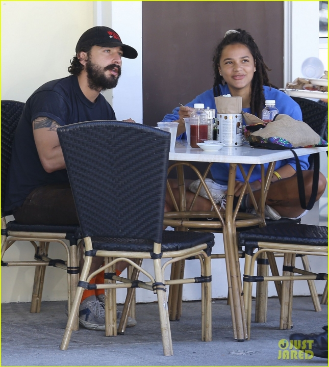 Shia LaBeouf Out For Lunch With A Mystery Woman