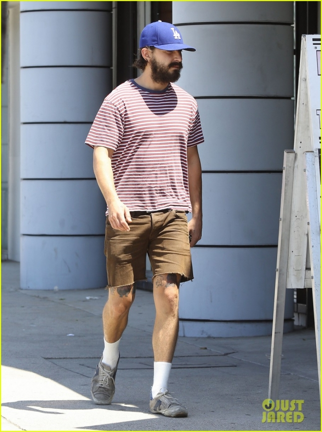 Exclusive... Shia LaBeouf Hits The Gym