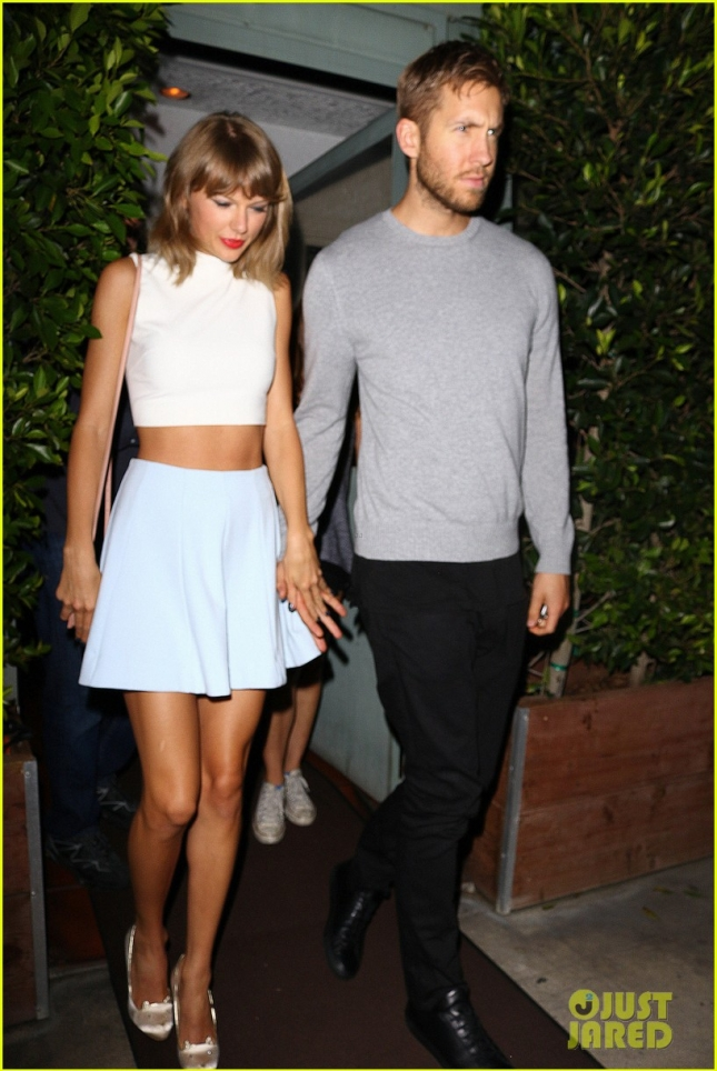 Taylor Swift and Calvin Harris hold hands after a low-key dinner date