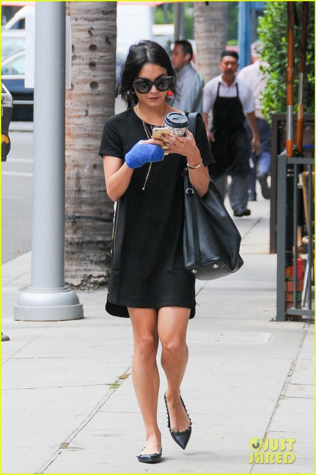 Vanessa Hudgens is black and blue in Beverly Hills