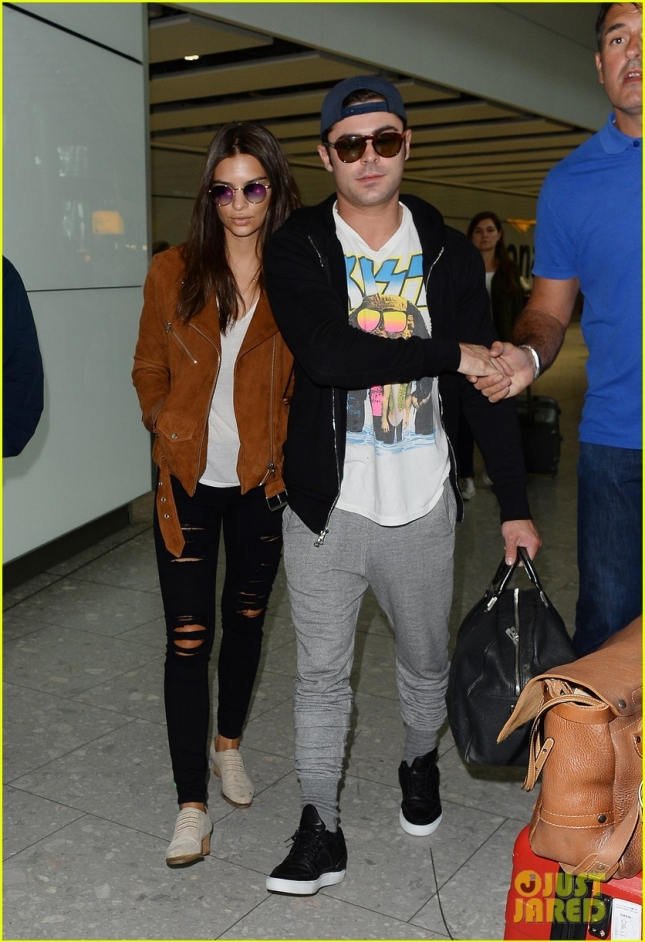Zac Efron and Emily at LHR