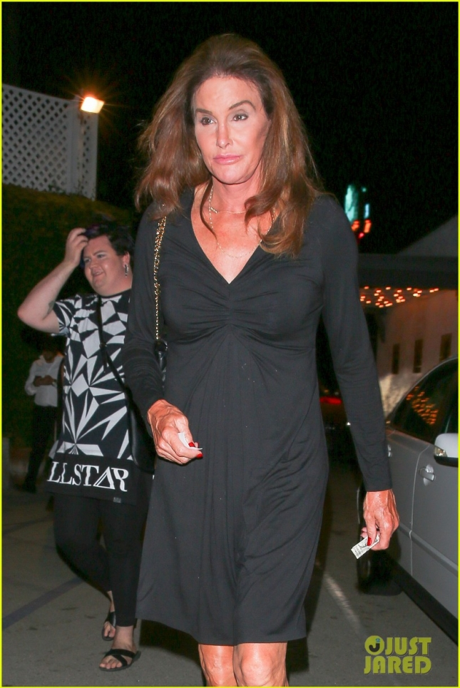*EXCLUSIVE* Caitlyn Jenner goes on a dinner date with gal pal Candis Cayne