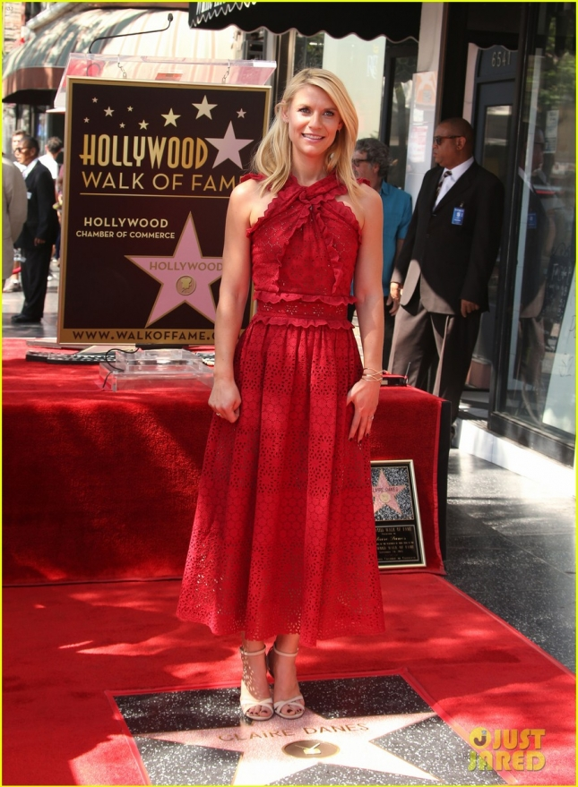 Claire Danes honored with star on the Hollywood Walk of Fame