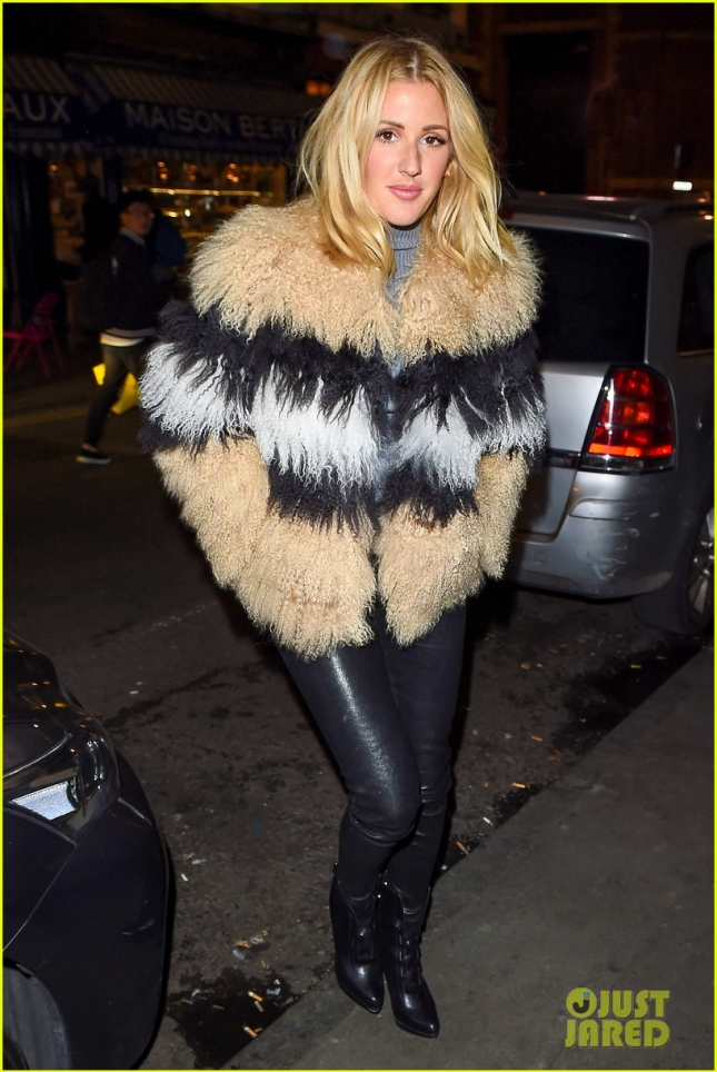 *EXCLUSIVE * Ellie Goulding arrives with a smile at Soho house **USA ONLY**