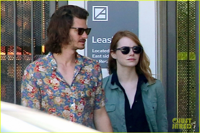 EXCLUSIVE: Andrew Garfield and Emma Stone seen having lunch together in Los Angeles