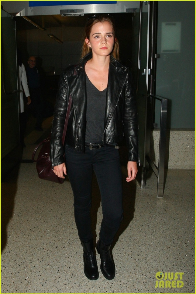 Emma Watson walks through LAX on Labor Day