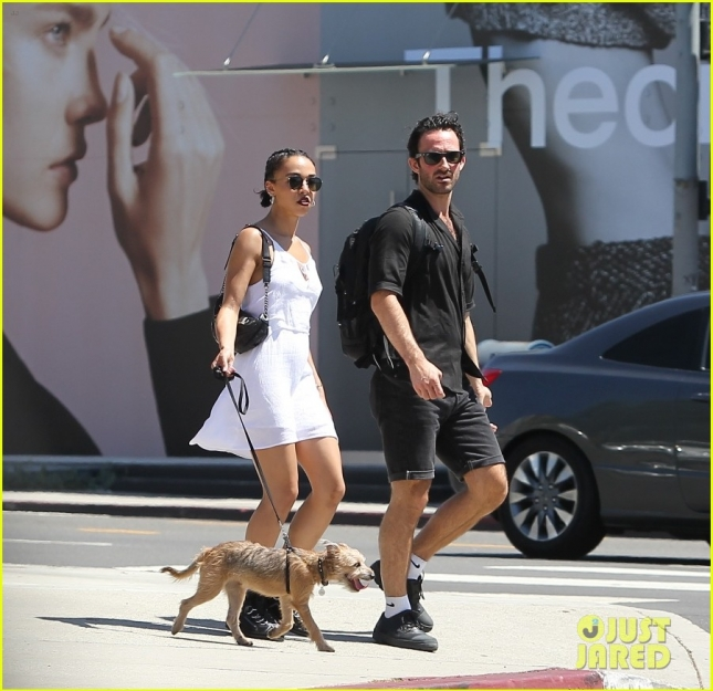 *EXCLUSIVE* FKA Twigs grabs lunch at Urth Caffe with her dog and a friend