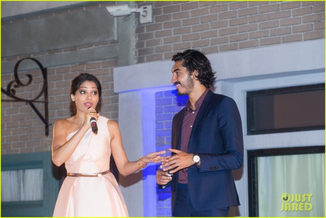freida-pinto-dev-patel-reunite-for-a-good-cause-02
