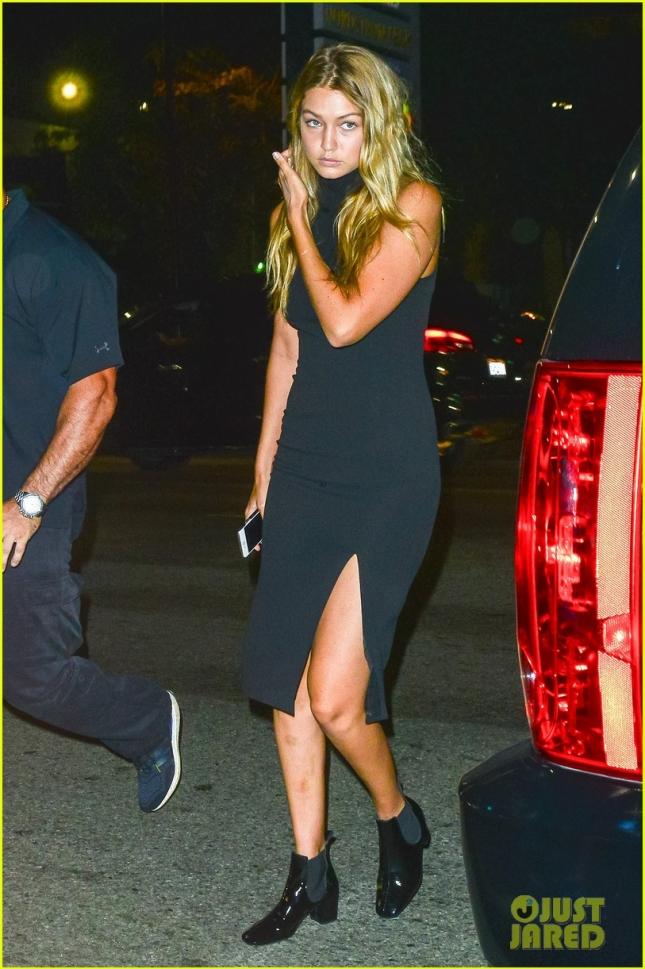 Gigi Hadid Dons a Thigh High Split Dress on Date Night With Joe Jonas