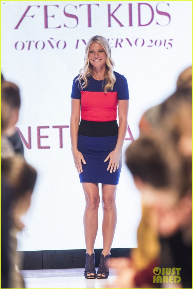 Gwyneth Paltrow is presented as the image of stores Liverpool in Mexico City at the Fashion Fest Autumn / Winter 2015.