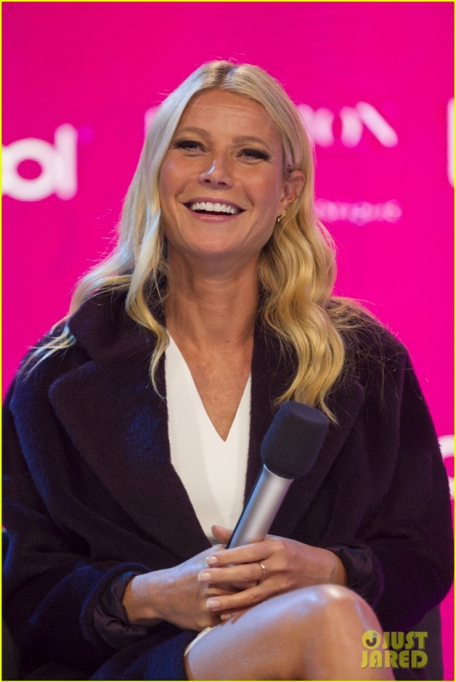 Press Conference with actress Gwyneth Paltrow during the Fall-Winter Fashion Fest 2015 at the Liverpool store in Mexico City.
