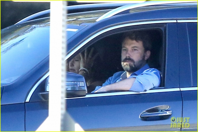 Ben Affleck and Jennifer Garner keep a brave face in Brentwood