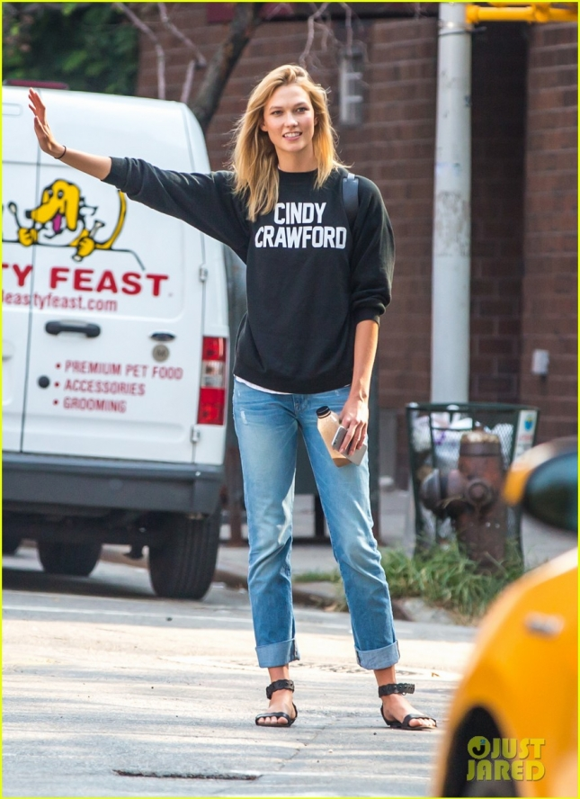 Karlie Kloss on her way to New York University