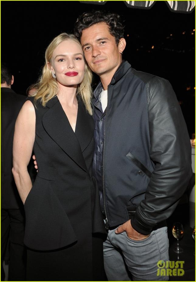 Кейт Босуорт и Орландо Блум, встречавшиеся с 2003 по 2006 год, пересеклись на вечеринке Dior в Лос-Анджелесе