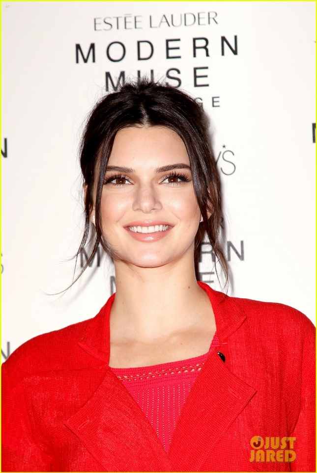 Macy's and Estee Lauder Welcome Kendall Jenner to Herald Square to Celebrate the Launch of the Brand's Newest Fragrance, Modern Muse Le Rouge