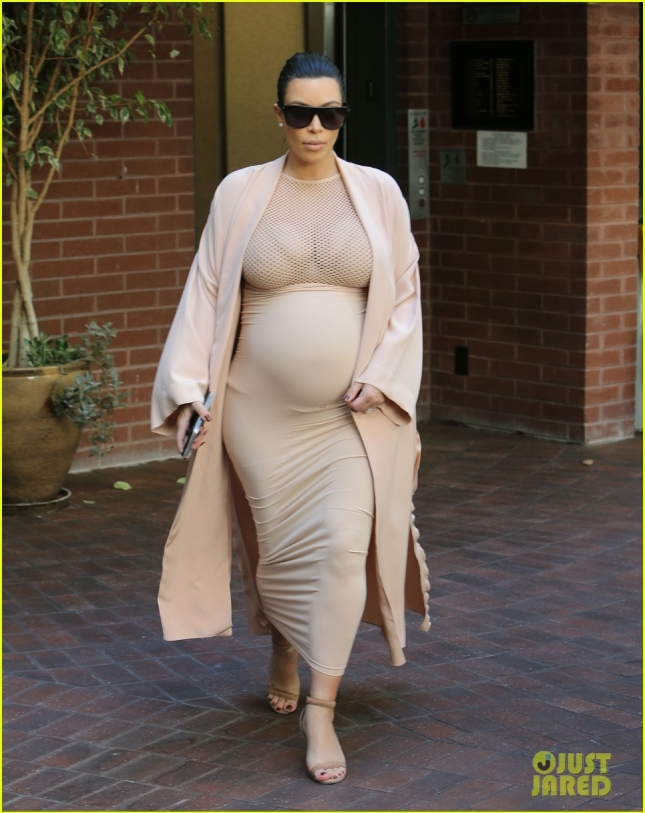 Pregnant Kim Kardashian Leaving A Medical Building