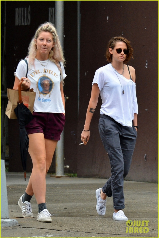 EXCLUSIVE: Kristen Stewart seen out and about with a female friend in SoHo, NYC