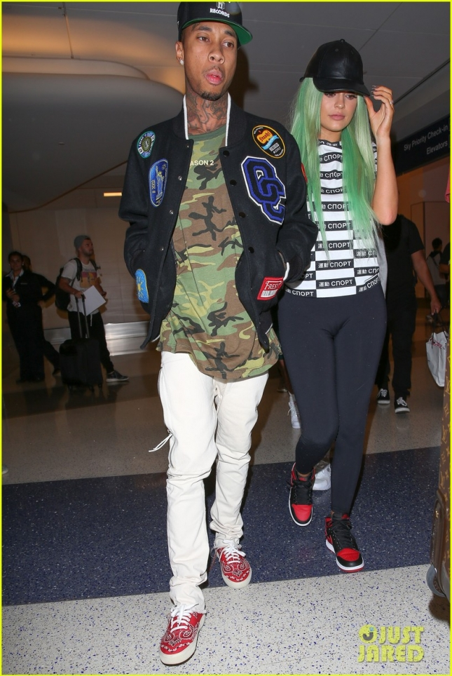 Kylie Jenner and boyfriend Tyga return to L.A. after New York Fashion Week - Part 2