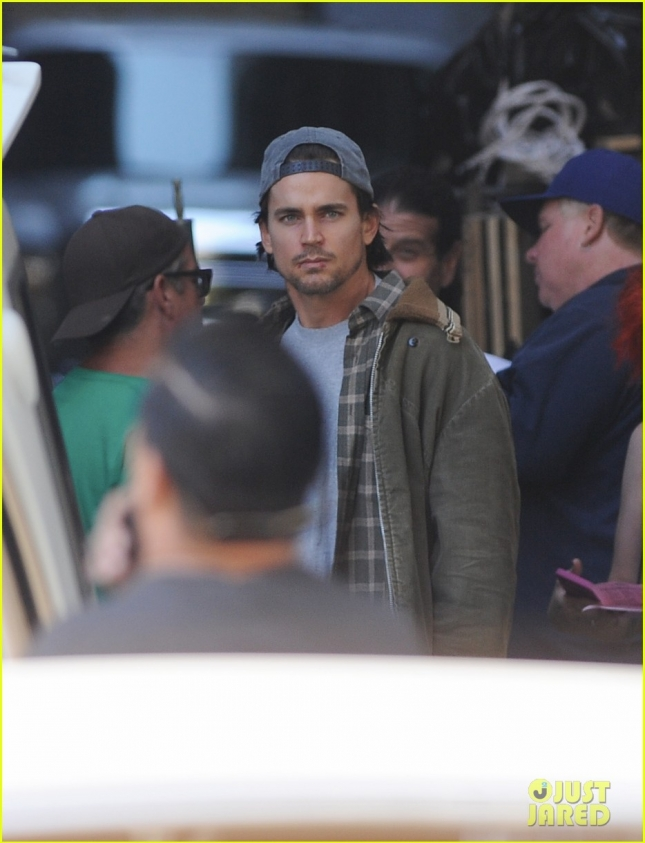 "Matt Bomer on the set of ""American Horror Story Hotel"""