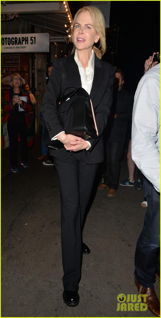 Nicole Kidman seen leaving a theatre in London, England