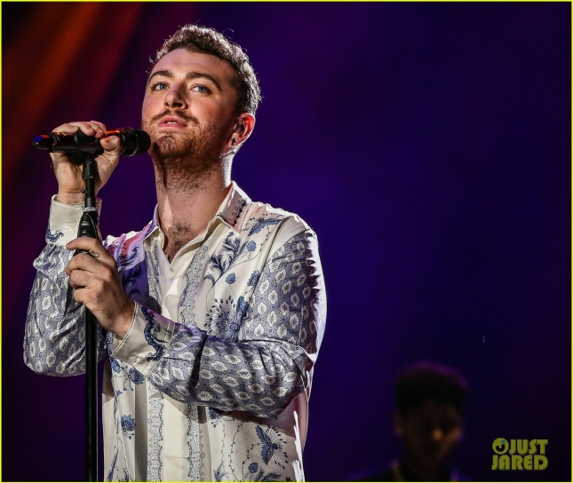 Sam Smith performs during Rock In Rio Festival