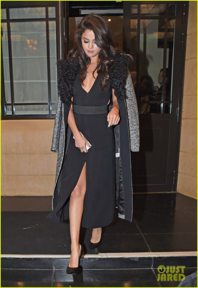 Selena Gomez Leaving the Dorchester Hotel