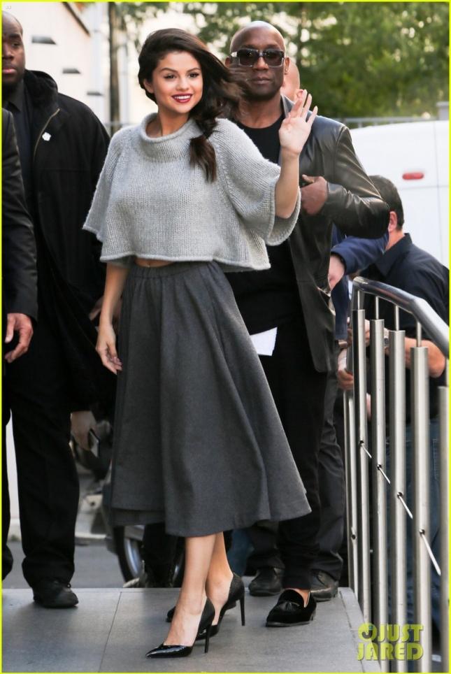 Selena Gomez looks amazing arriving at NRJ Radio Studios **USA, Australia, New Zealand ONLY**
