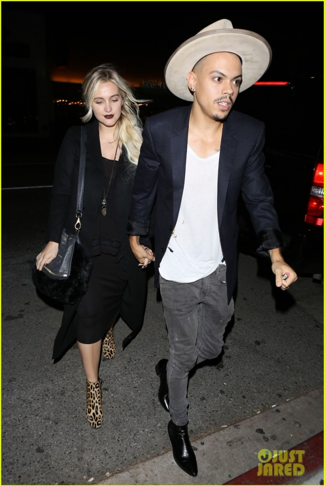 Ashlee Simpson and Evan Ross hold hands at The Nice Guy