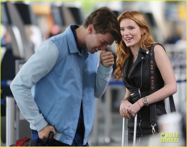Birthday Girl Bella Thorne & Patrick Schwarzenegger Catch A Flight Out Of Vancouver