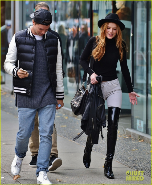 Bella Thorne & Patrick Schwarzenegger Out With Friends In Vancouver